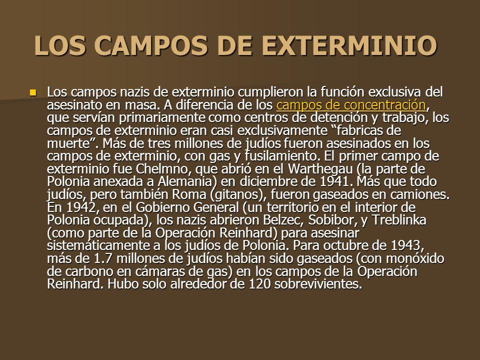 LOS CAMPOS DE EXTERMINIO
