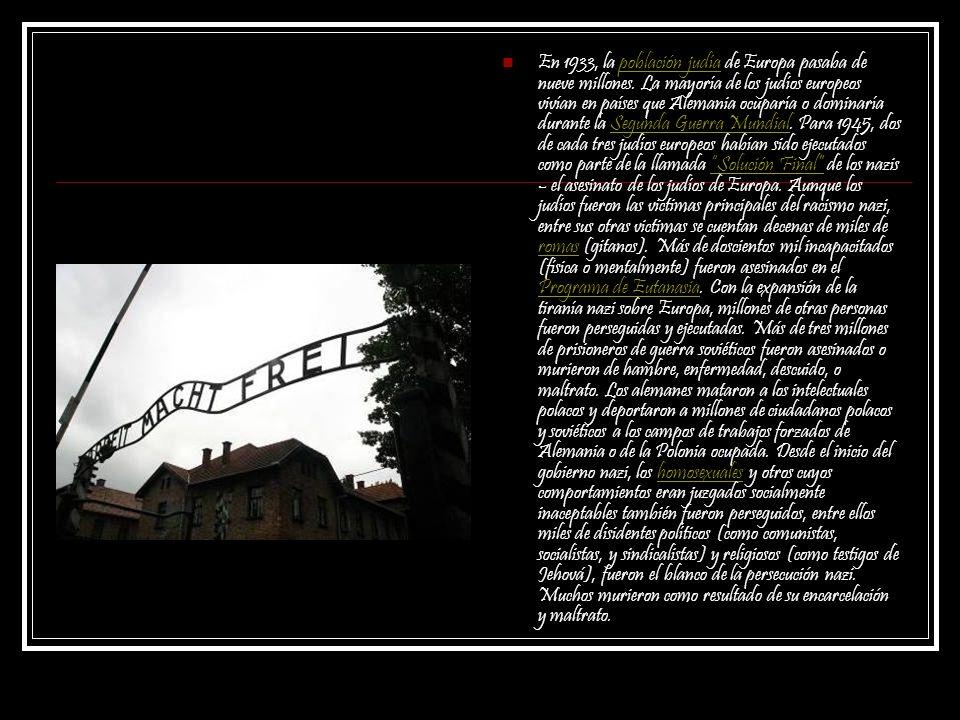 En 1933, la población judía de Europa pasaba de nueve millones