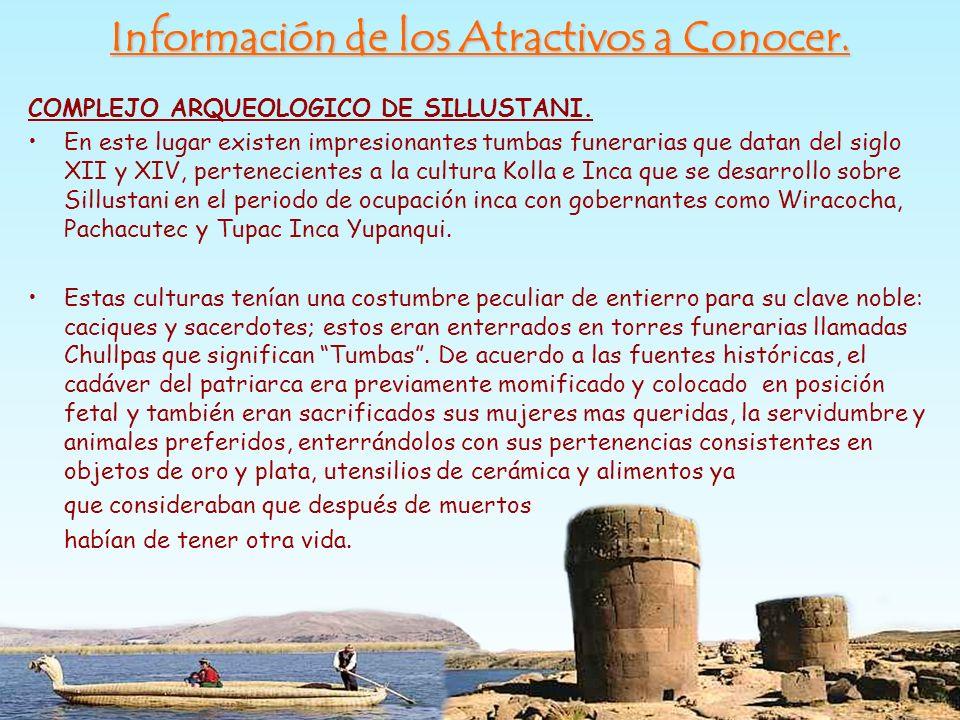 Información de los Atractivos a Conocer.