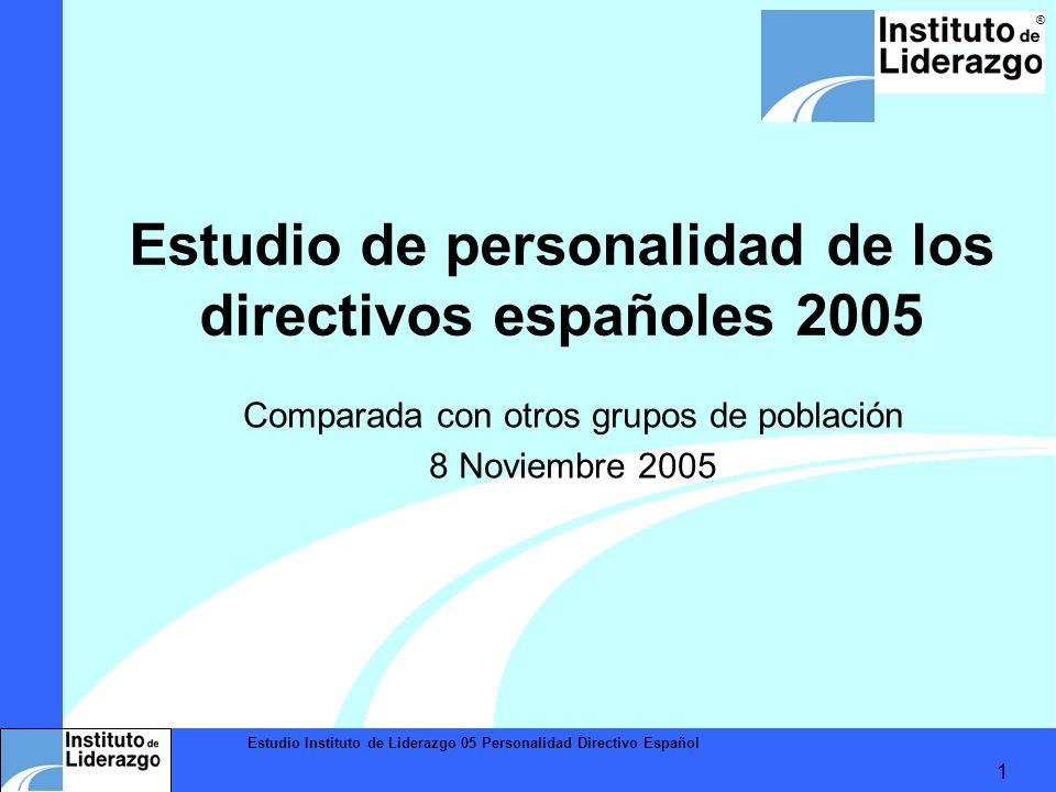 Estudio de personalidad de los directivos españoles 2005