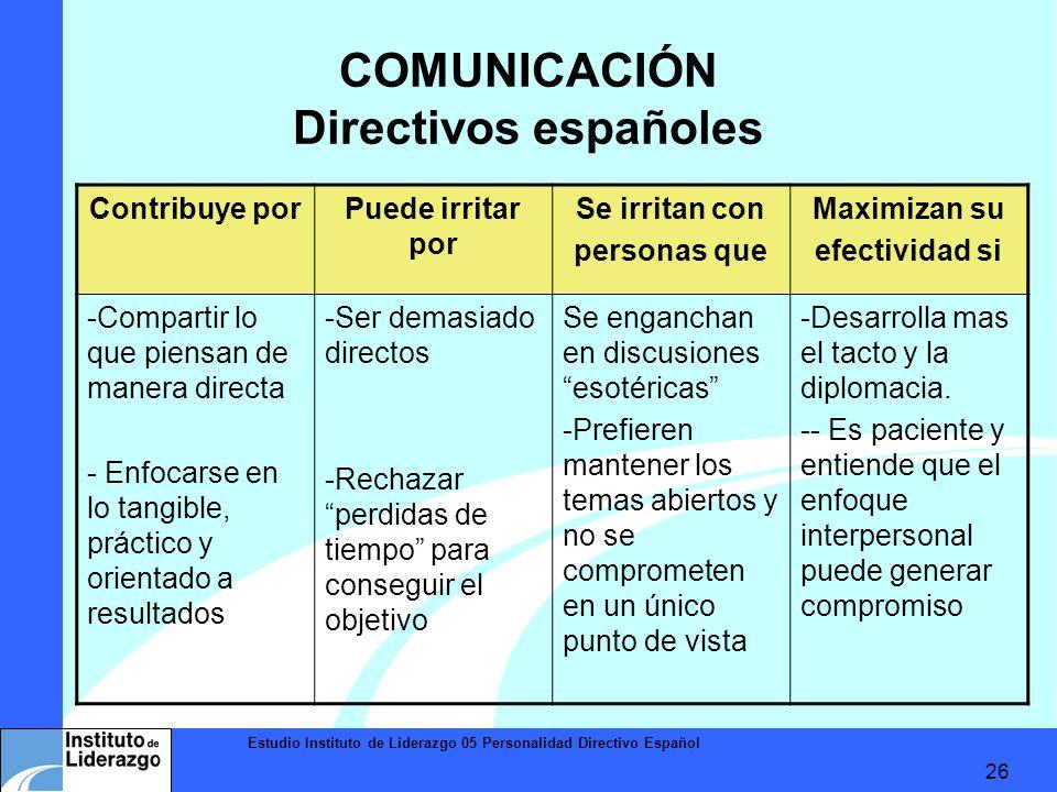 COMUNICACIÓN Directivos españoles