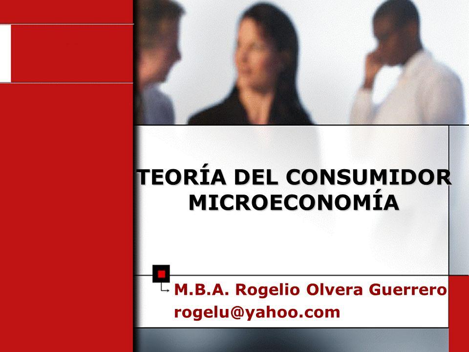 TEORÍA DEL CONSUMIDOR MICROECONOMÍA