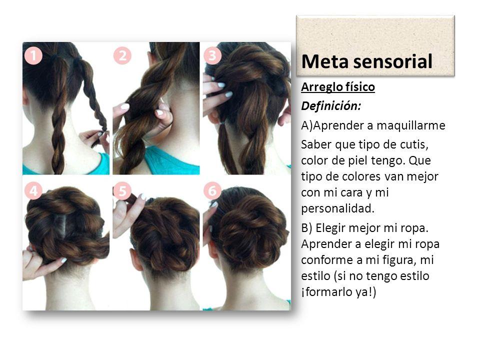 Meta sensorial Arreglo físico Definición: A)Aprender a maquillarme