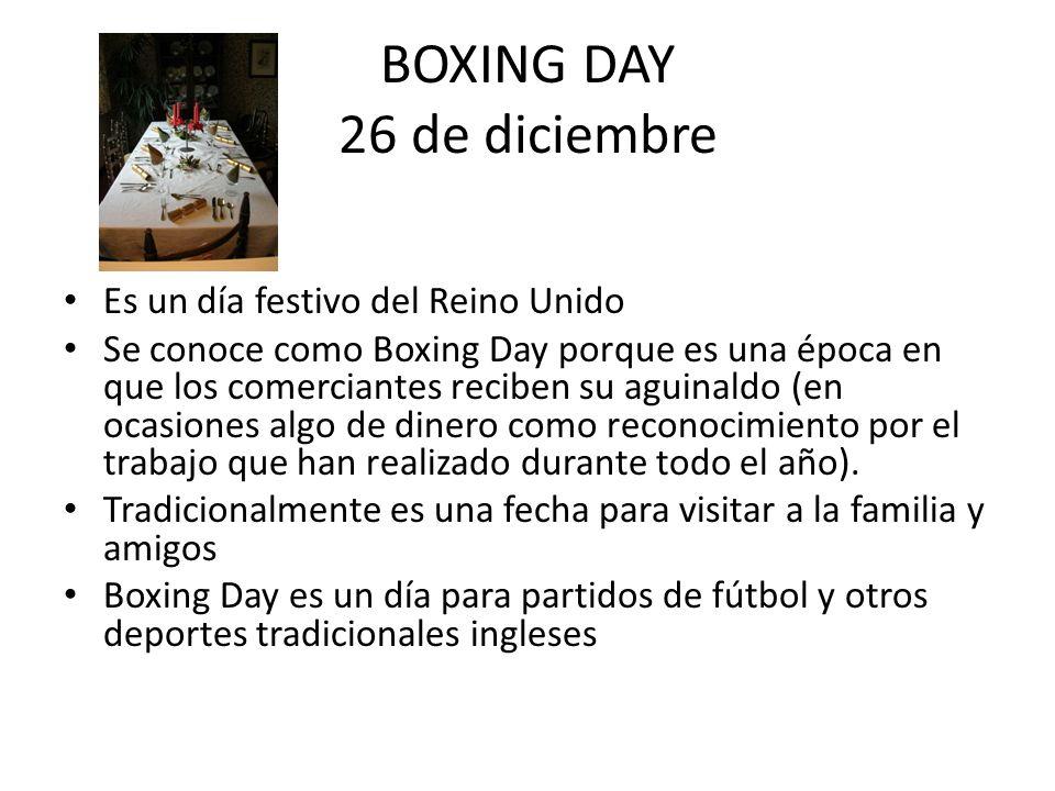 BOXING DAY 26 de diciembre