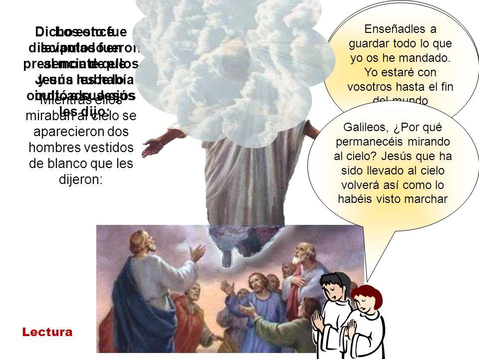 Id pues y haced discípulos a todas las gentes bautizándolas en el nombre del Padre y del Hijo y de Espíritu Santo