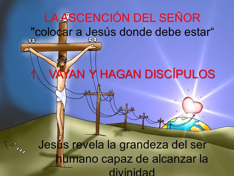 colocar a Jesús donde debe estar