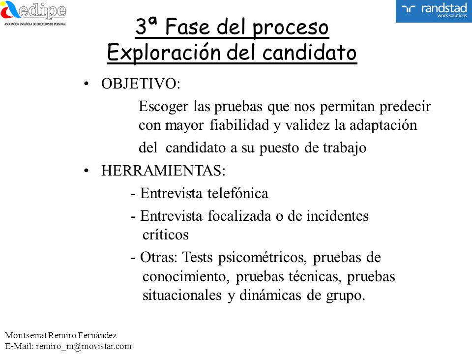 3ª Fase del proceso Exploración del candidato