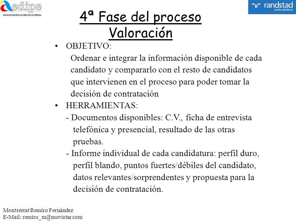 4ª Fase del proceso Valoración