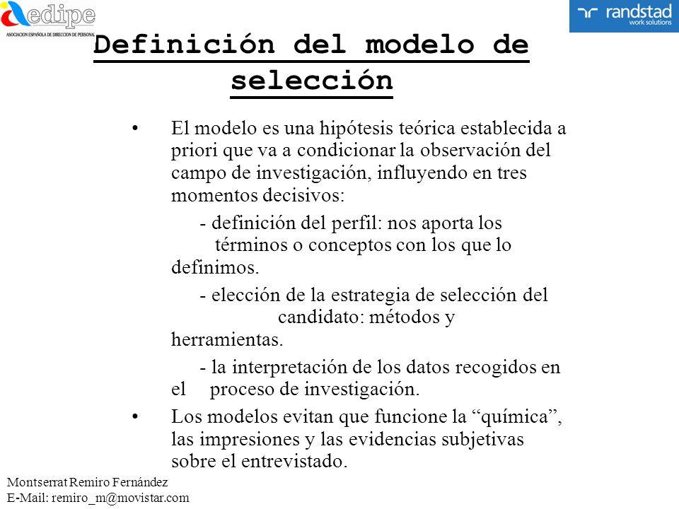Definición del modelo de selección