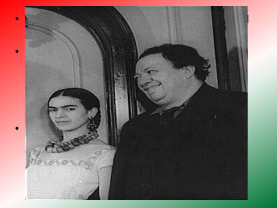 Frida conoció a Diego Rivera se casó con él el 21 de agosto de 1929.