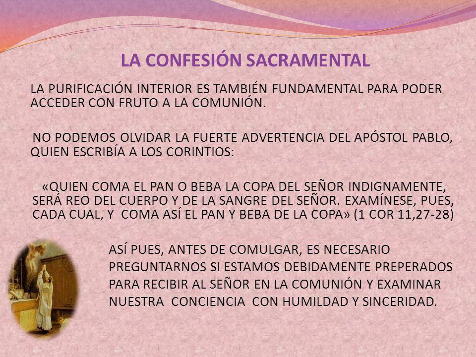 LA CONFESIÓN SACRAMENTAL