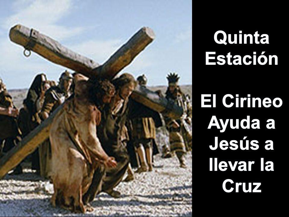 Ayuda a Jesús a llevar la Cruz
