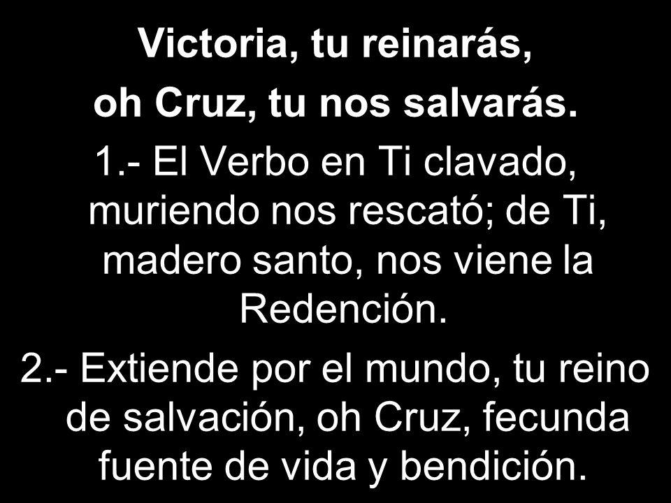 Victoria, tu reinarás, oh Cruz, tu nos salvarás. 1