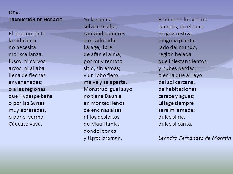 Oda. Traducción de Horacio