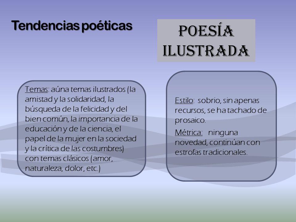 POESÍA ILUSTRADA Tendencias poéticas