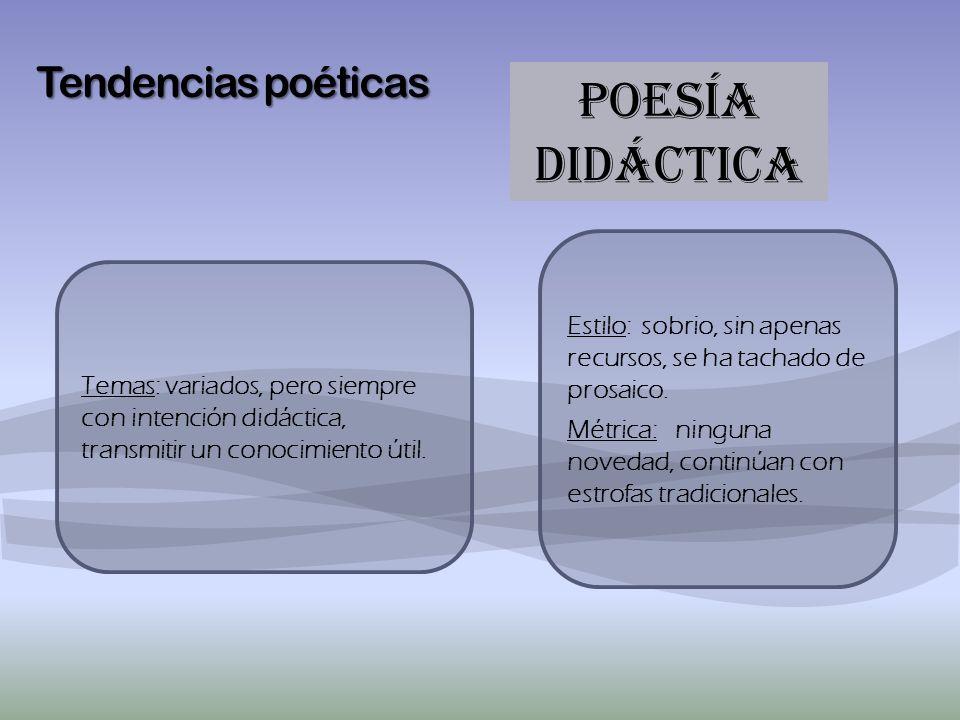 POESÍA didáctica Tendencias poéticas