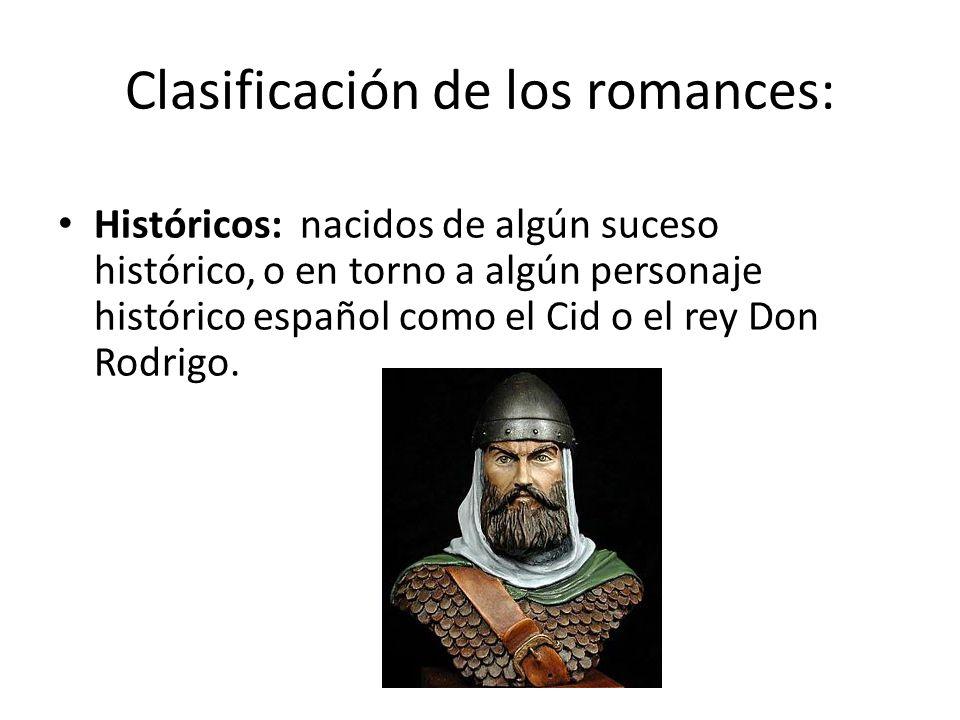 Clasificación de los romances: