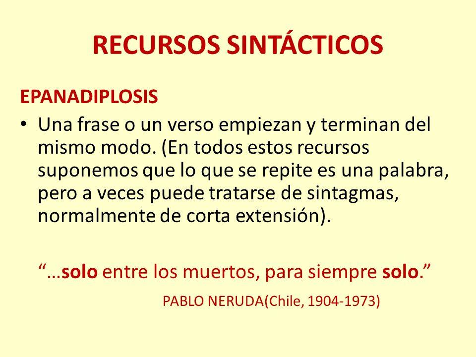 RECURSOS SINTÁCTICOS EPANADIPLOSIS