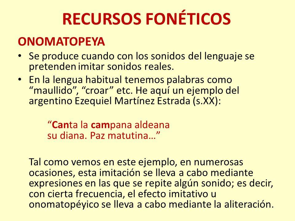 RECURSOS FONÉTICOS ONOMATOPEYA