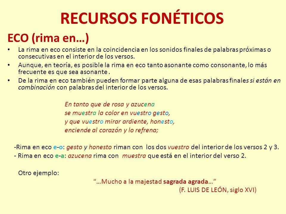 RECURSOS FONÉTICOS ECO (rima en…)