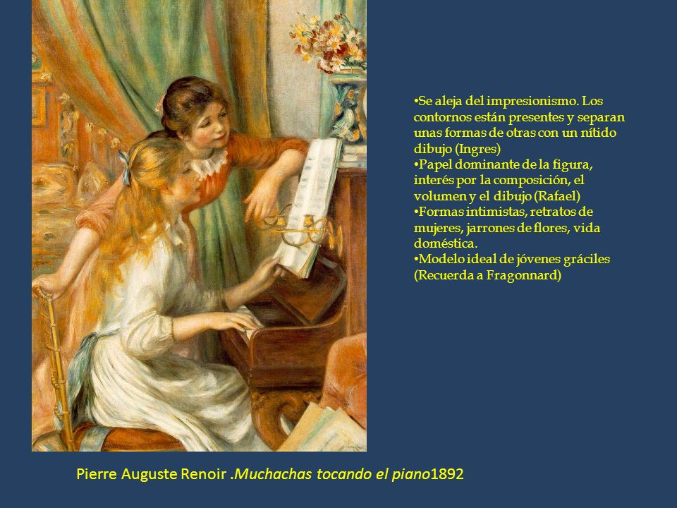 Pierre Auguste Renoir .Muchachas tocando el piano1892