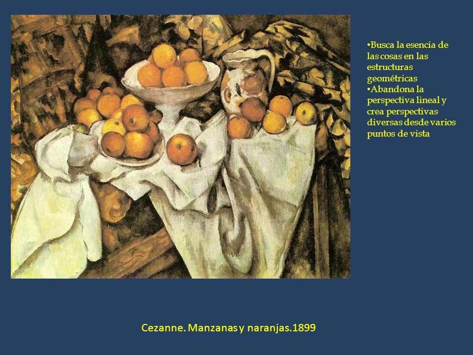 Cezanne. Manzanas y naranjas.1899