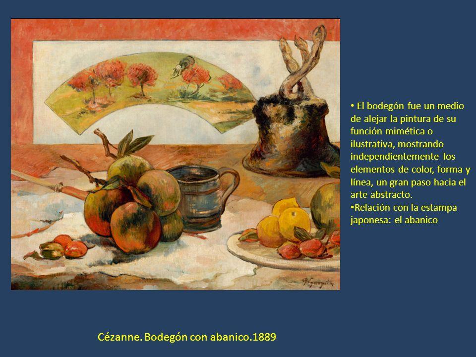 Cézanne. Bodegón con abanico.1889