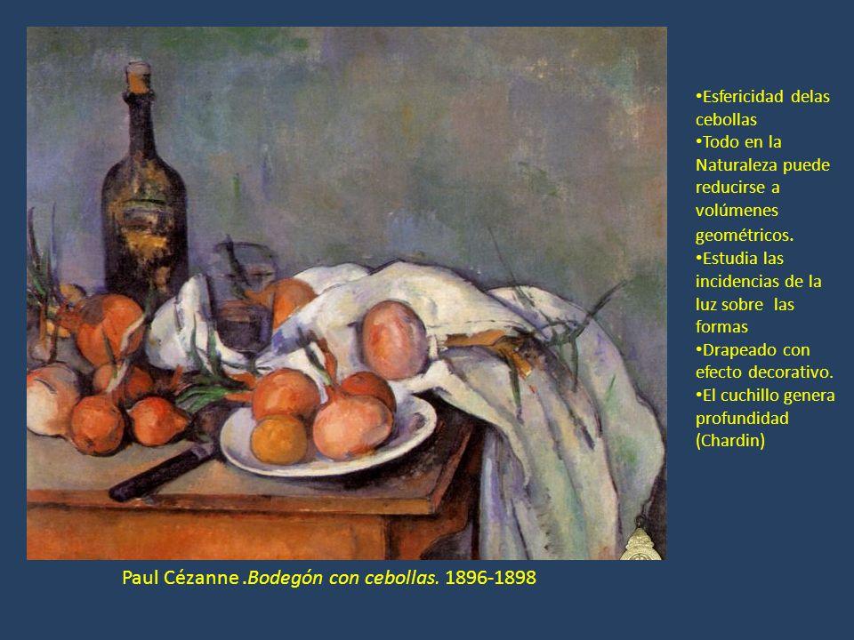 Paul Cézanne .Bodegón con cebollas. 1896-1898