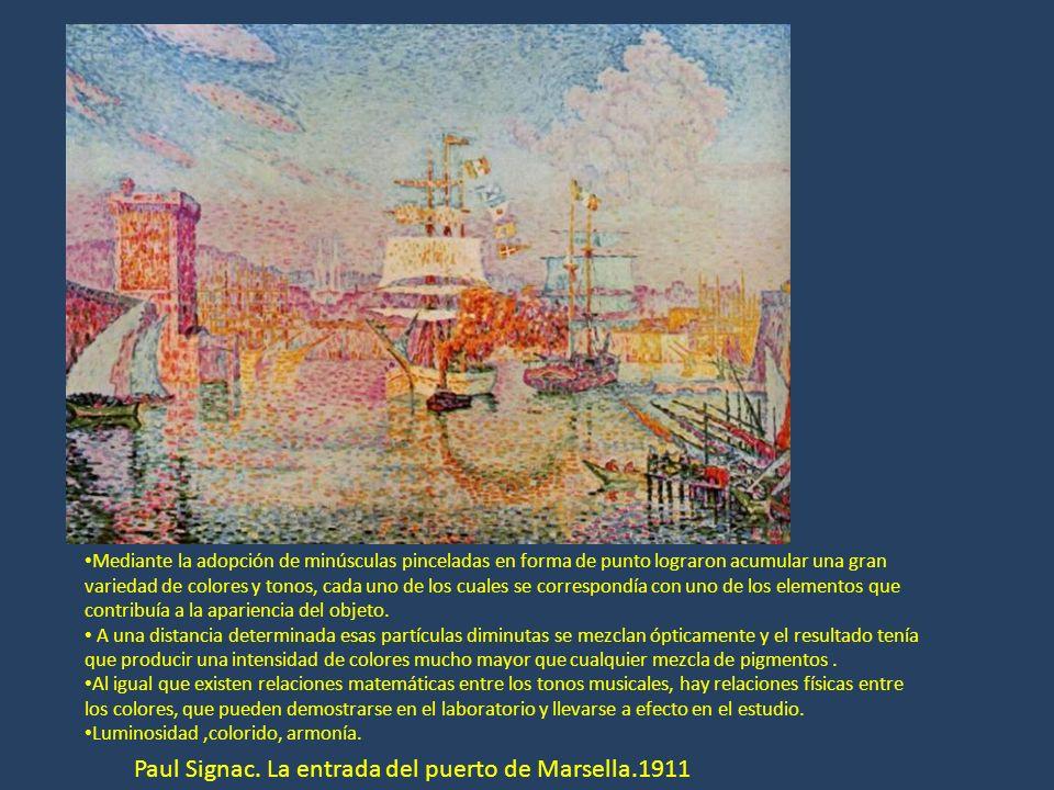 Paul Signac. La entrada del puerto de Marsella.1911