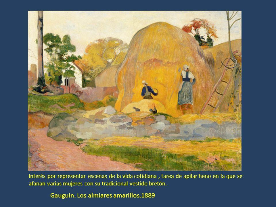 Gauguin. Los almiares amarillos.1889