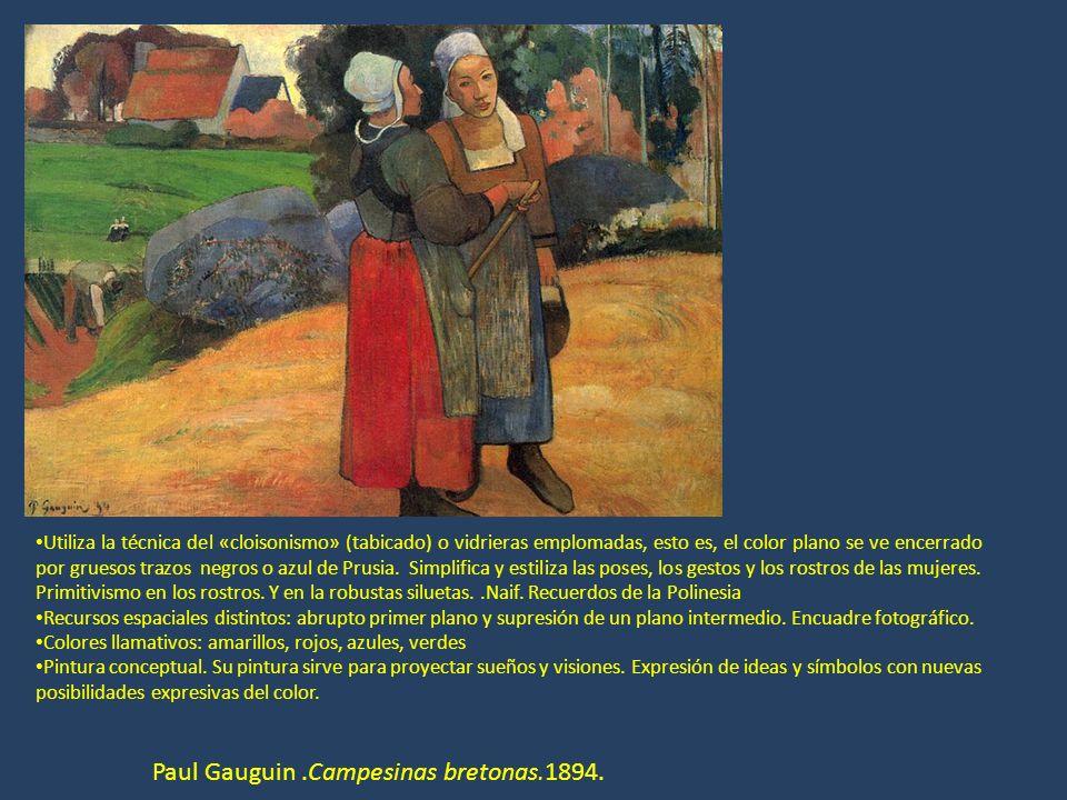 Paul Gauguin .Campesinas bretonas.1894.