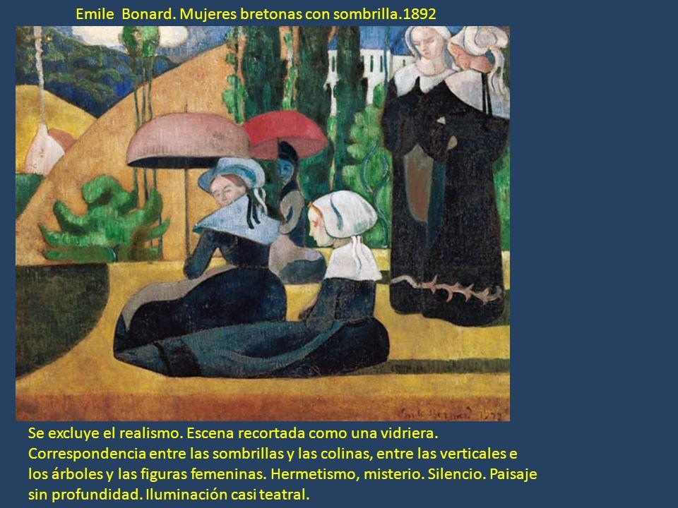 Emile Bonard. Mujeres bretonas con sombrilla.1892