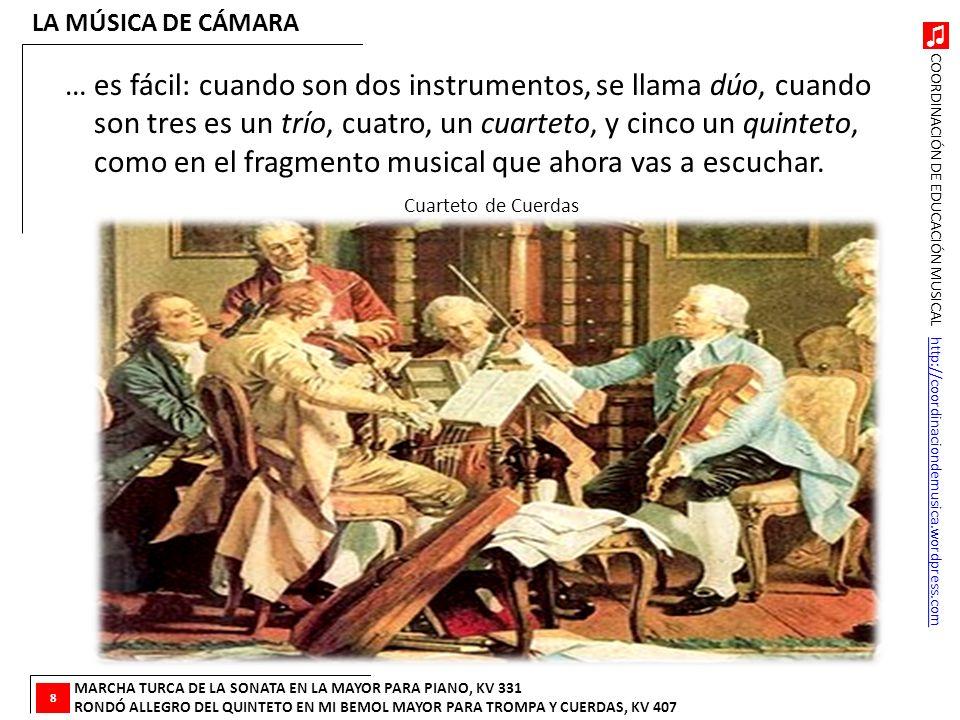 LA MÚSICA DE CÁMARA