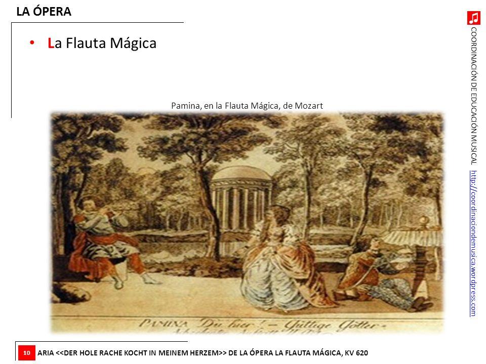 Pamina, en la Flauta Mágica, de Mozart