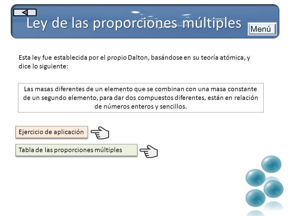 Ley de las proporciones múltiples