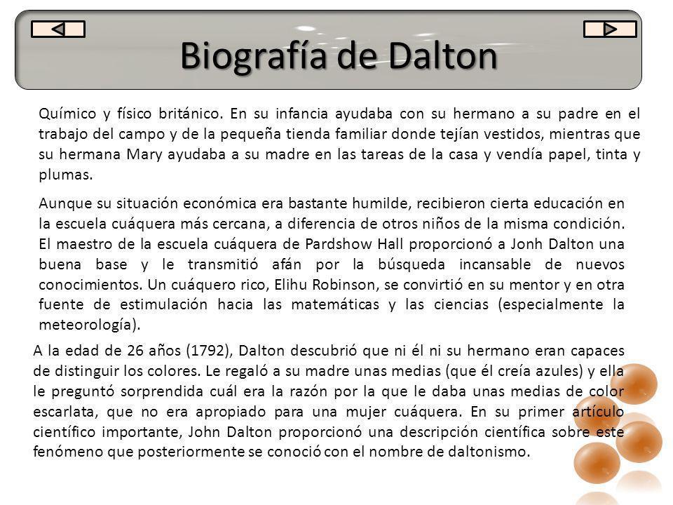 Biografía de Dalton