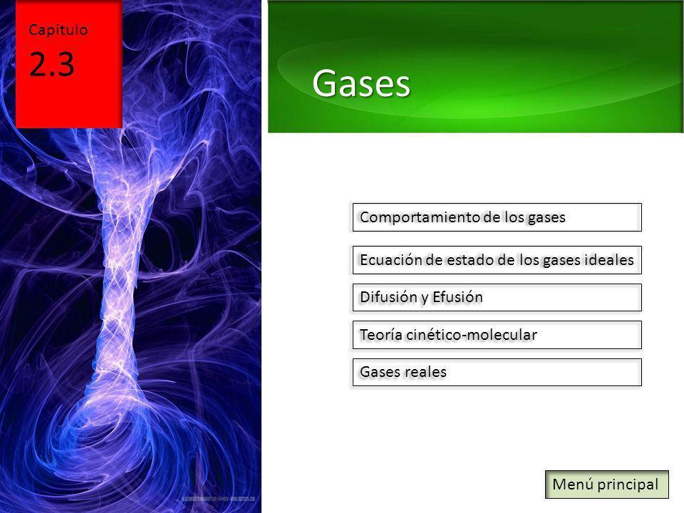 Gases 2.3 Capitulo Comportamiento de los gases
