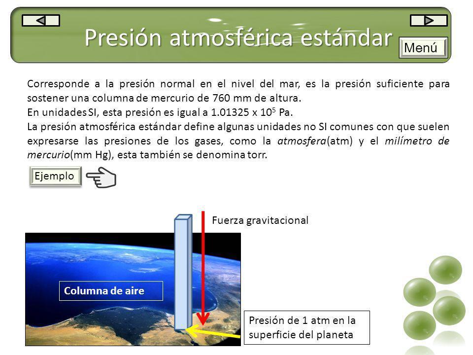 Presión atmosférica estándar