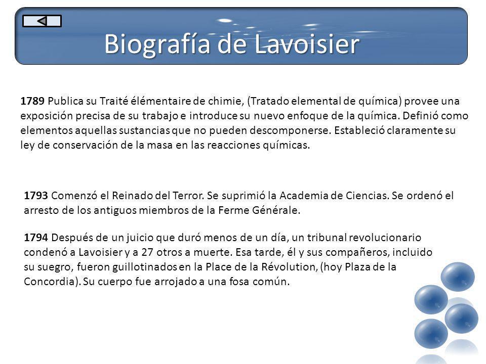 Biografía de Lavoisier
