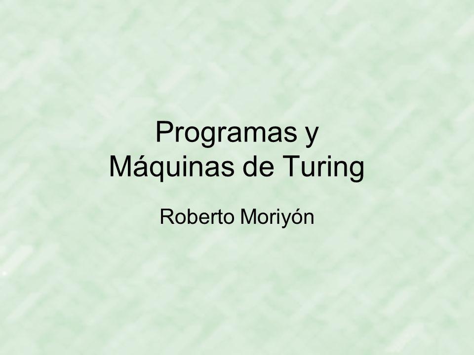Programas y Máquinas de Turing
