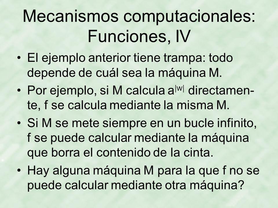 Mecanismos computacionales: Funciones, IV
