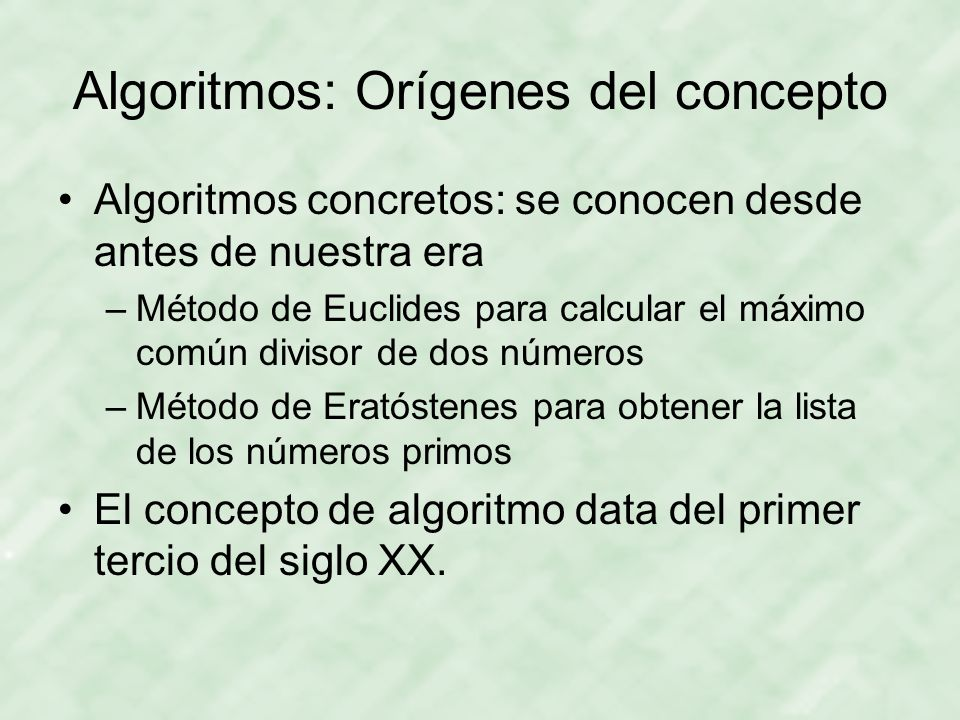 Algoritmos: Orígenes del concepto