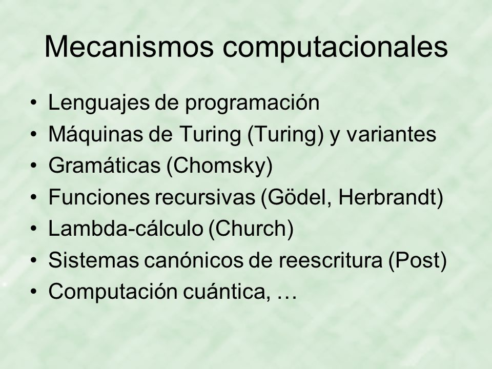Mecanismos computacionales
