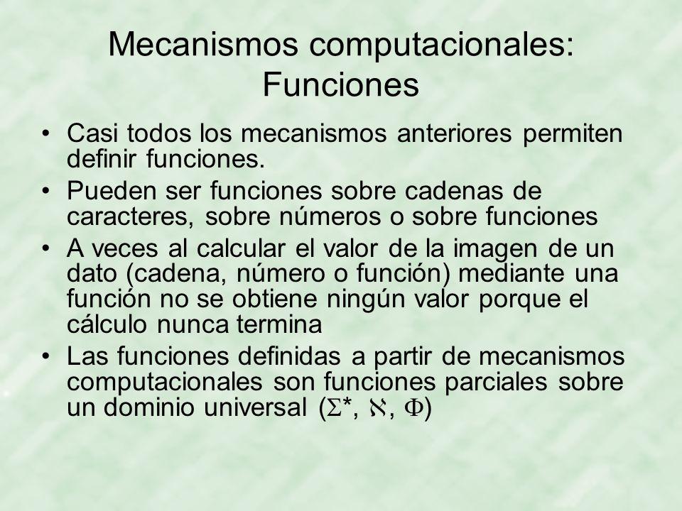 Mecanismos computacionales: Funciones