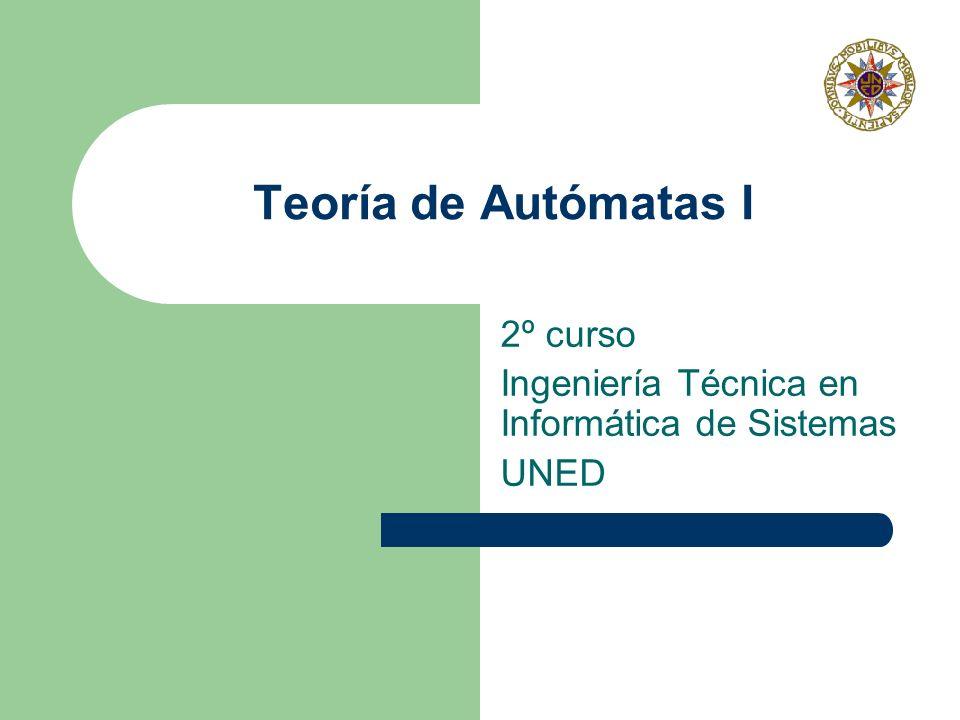 2º curso Ingeniería Técnica en Informática de Sistemas UNED