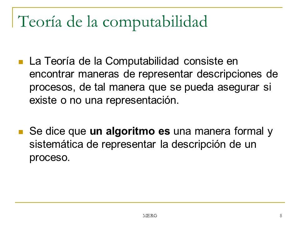 Teoría de la computabilidad