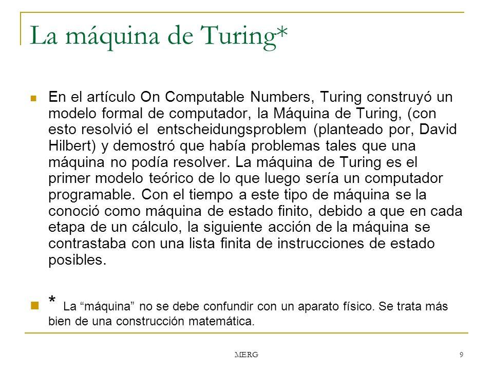 La máquina de Turing*