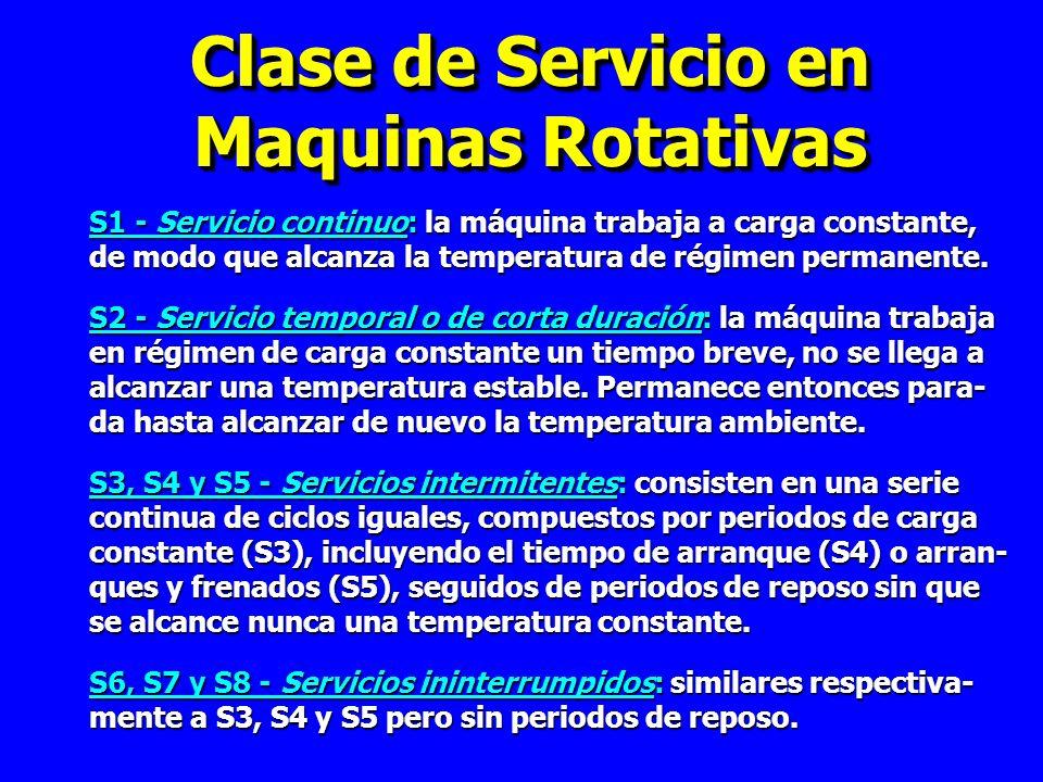 Clase de Servicio en Maquinas Rotativas