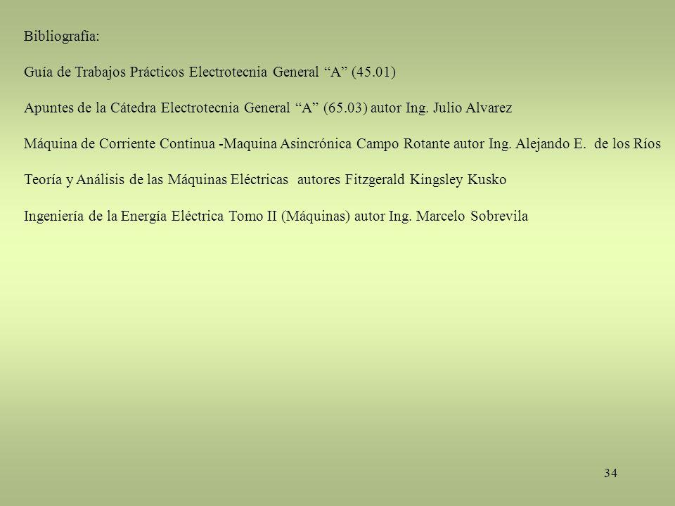 Bibliografía: Guía de Trabajos Prácticos Electrotecnia General A (45.01)