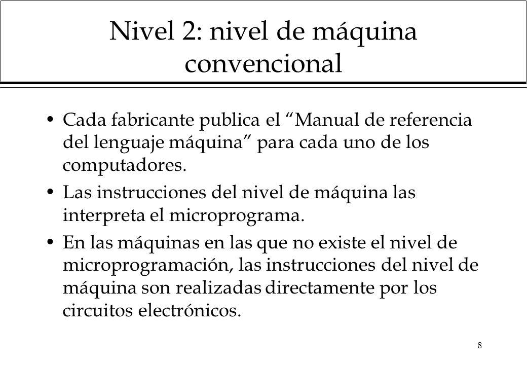 Nivel 2: nivel de máquina convencional